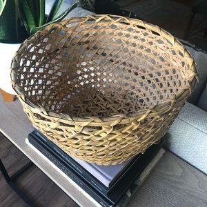 Vintage Natural Open Weave Boho Basket